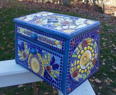 Sunflower mosaic bread box, side 2 | Ree Maier | Flickr