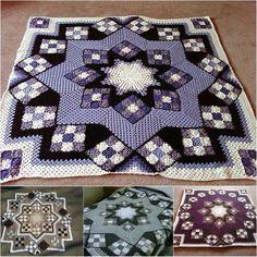 Great Blue Star ♥️ Crochet Afghan Free crochet patterns #free #crochet #patterns #baby #blanket #afghan