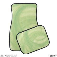 Lime Swirl Car Floor Mat