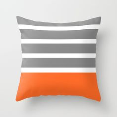 Buy Orange Stripe by OneClickGallery as a high quality Throw Pillow. Worldwide shipping available at Society6.com. Just one of millions of products…