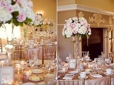 Fall Rustic Spring Summer Vineyard Vintage Blush Ivory Pink Centerpieces Indoor Reception Place Settings Wedding Reception Photos & Pictures - WeddingWire.com