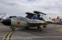 De Havilland Sea Venom owned by the Fleet Air Arm Museum Royal Navy, Venom, Military Aircraft, Wwii, Fighter Jets, Aviation, Wheels, Arm, British