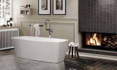 Luxury bathroom with Nova's modern bathtub / Cube Collection Farmhouse Bathroom Mirrors, Modern Bathroom Mirrors, Master Suite Bathroom, Modern Bathtub, Luxury Master Bathrooms, Best Bathroom Vanities, Big Bathrooms, Bathroom Design Small, Contemporary Bathrooms