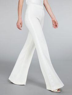 Max Mara SAPERE ivoire: Pantalon en cady.