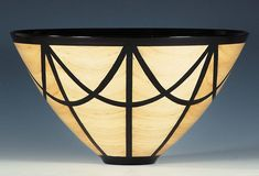 John Shrader wood bowl, maple and epoxy. made from a single flat board and coated wirh 24 layers of lacquer.