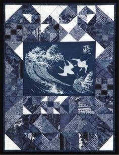 """Tobu"" by Margreta Silverstone Quilt"