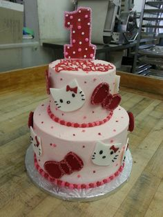 Our Yummy Hello Kitty Cake.