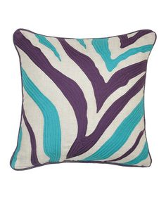 Love this Purple & Turquoise Zebra Linen-Blend Throw Pillow by Tumble Creek Home on #zulily! #zulilyfinds @Cimone Barnes