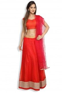 Lovers Red Lehenga  Rs. 11,000