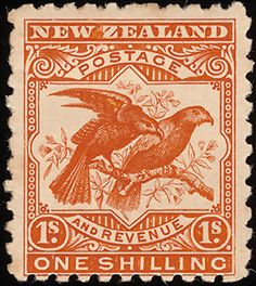 New Zealand Kaka stamps - mainly images - gallery format