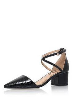 af940be605d   Ava Black Mid Heel Court Shoe by Miss KG Mid Heel Shoes