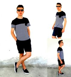 Von Zipper Sunnies, River Island T Shirt, H Shorts, Castaway Shoes