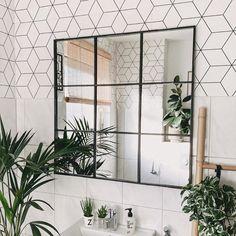 Badezimmer Spiegel Industrial Look - New Ideas Industrial Mirrors, Industrial Bathroom, Industrial House, Interior Design Inspiration, Bathroom Inspiration, Home Decor Inspiration, Design Ideas, Decor Ideas, Scandinavian Bathroom