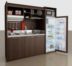 кухня мини кухня в шкафу для маленькой кухни или офиса