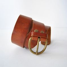 """Il Bisonte 26"""" Distressed Leather Belt from Florence Italy Size Small by ModernSquirrel"""