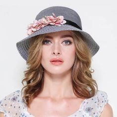 Package flower straw sun hat for women UV visors summer beach hats