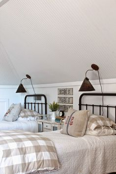 Modern Country Style: Gorgeous Modern Country Style bedroom Click through for details.
