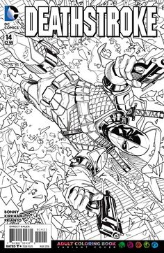 Deathstrokes Hunt For His Daughter Continues Find This Pin And More On DC Comics Coloring Book