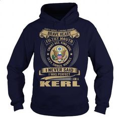 KERL Last Name, Surname Tshirt - #gifts for girl friends #gift ideas for him. GET YOURS => https://www.sunfrog.com/Names/KERL-Last-Name-Surname-Tshirt-Navy-Blue-Hoodie.html?id=60505