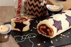 Gâteau roulé étoilé au chocolat