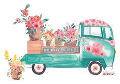Stohne Illustration - Rose Truck placemat By Audrey Lisik