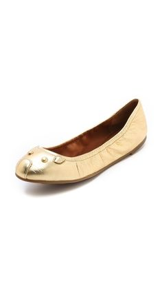 Marc by Marc Jacobs Metallic Mouse Flats €128.25 | $166.60 (30% off)