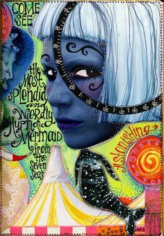 teesha's circus A Fabulous blog with brilliant art journaling samples.