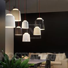 Prandina Teodora S1 pendant lamp with red cable » modern and contemporary lighting fixtures, chandeliers & furniture » NOSTRAFORMA.