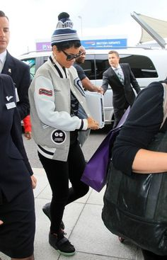 Rihanna Wears Nike Air Yeezy 2
