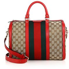 Gucci Vintage Web Medium Original GG Canvas Boston Bag ($1,250) ❤ liked on Polyvore featuring bags, handbags, apparel & accessories, gucci, vintage handbags, boston bag, vintage bags and gucci handbags