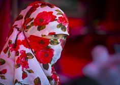 Asia: Uighur Veiled girl in Xinjiang, China by Eric Lafforgue
