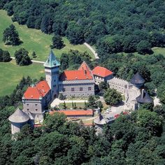 Smolenický zámok (Smolenice Castle), on the eastern slope of the LittleCarpathians, near the town of Smolenice, Slovakia.