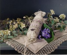 I made one of these violet needle rolls designed by Teri Richards for Shepherd's Bush Printworks (1996).