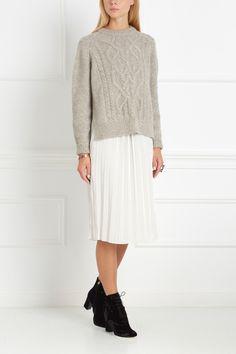 Джемпер из альпаки Gabao Isabel Marant - Прекрасный джемпер из коллекции французского бренда Isabel Marant, стиль которого характеризуется как «беззаботный парижский шик» в интернет-магазине модной дизайнерской и брендовой одежды