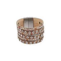 Good Works Come Together Inspirational Bracelet ($25) ❤ liked on Polyvore