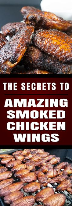 SMOKER -- Amazing Smoked Chicken Wings - The Secrets to making amazingly delicious smoked wings with step by step instructions. These will be a smashing success at any kind of get-together. Traeger Recipes, Smoked Meat Recipes, Grilled Chicken Recipes, Chicken Wing Recipes, Grilling Recipes, Grilled Shrimp, Grilled Salmon, Salmon Recipes, Grilled Chicken Wings