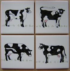 Cow Kitchen Ideas Farm Animal Hand Painted Tiles Ceramic Tile Murals Bespoke Designs