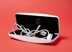 Store cords and headphones in a sunglass case