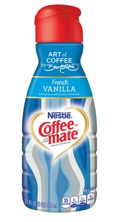 Beautiful Coffee-Mate French Vanilla bottle, designed by HGTV host David Bromstad.