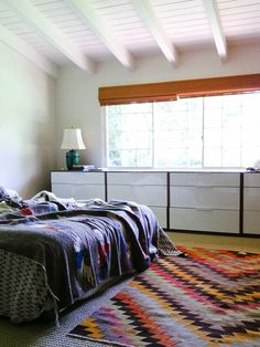 The rugs cool and the multiple dressers is a great idea!