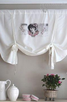 Rollo Raffrollo Roll Gardine 100x90 Brocante Shabby Chic Landhaus Vintage Weiß | Maison, Rideaux, stores, Stores | eBay!