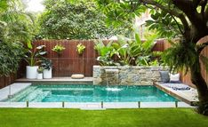 Here are 40 Amazing Backyard Pool Ideas Incredible Pool Designs That Will Make A Splash In Your Backyard Landscaping. tags: backyard ideas, swimming pool design, backyard pool ideas on budget, small backyard pool, backyard pool lanscaping. Small Swimming Pools, Small Pools, Swimming Pools Backyard, Swimming Pool Designs, Lap Pools, Indoor Pools, Pool Decks, Backyard Pool Landscaping, Backyard Pool Designs