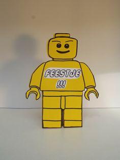 Lego mannetje uitnodiging