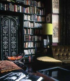 Book Shelves- I really love the feel here with the doors too