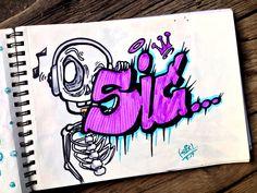 Graffiti Lettering Alphabet, Graffiti Wall Art, Graffiti Tagging, Graffiti Drawing, Street Art Graffiti, Graffiti Designs, Graffiti Styles, Arte Hip Hop, Letter Art