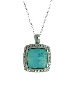 Another great find on #zulily! Larimar & Sterling Silver Square Pendant Necklace #zulilyfinds