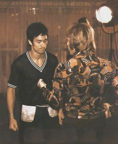 Bruce Lee & his friend Chuck Norris  #brucelee #bruceleequotes #kurttasche