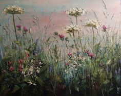 'Where the sky meets the earth' by Marie Mills - 100x80cms - oil on linen - £1295 at www.lyndhurstgallery.com