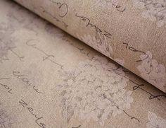 johaninka / Kvety hortenzie a písmo na režnom podklade š.140cm