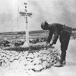 James and Ming (sec 3): A Canadian grave near Vimy being respected by a fellow soldier.